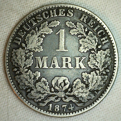 1874 H Germany-Empire Mark KM#7 Silver World Coin YG #P