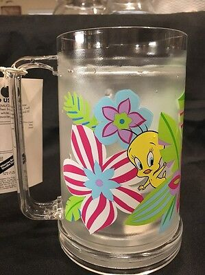 Looney Tunes Warner Bros Studio Store Freezer Mug 2000 Tweety Bird Flowers 16oz