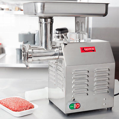 Avantco MG12 #12 1 HP Meat Processing Grinder Commercial Stainless Restaurant