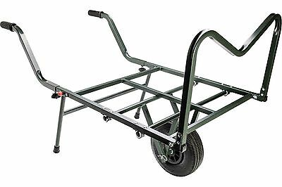 Leeda Carp Fishing Specimen Transport Barrow Single Wheel Trolley Tackle Storage