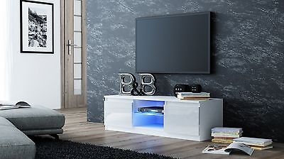 High Gloss White Matt Led Tv Cabinet Unit Stand Fits 24   60 Inch Television