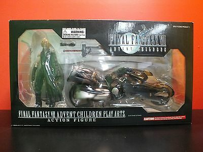 Final Fantasy VII Advent Children Play Arts no.0 Cloud & Fenrir Figure NIB