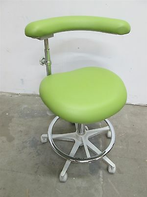 New Brewer 3145L Dental Assistants Stool w/ Lime Ultraleather Upholstery