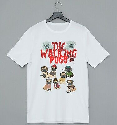 The Walking Pugs Walking Dead Pug Cool Ideal Gift Present Funny Fashion Tshirt