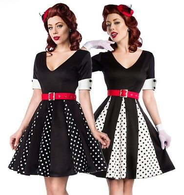Sexy Pin-Up Kleid Godet Retro Rockabilly Polka Dots Vintage Punkte 50er Kleid