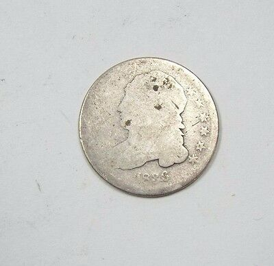 1836 Capped Bust Silver Dime AG Silver 10c
