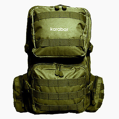 50L Molle Tactical Modular Backpack Military Style Rucksack Outdoor Camping Army