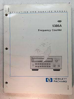 HP Agilent 5386A Frequency Counter Operating & Service Manual P/N 05386-90001