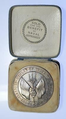 WWI - 1916 Battle of Jutland silver medal by Bowcher for Spink - Rare in silver