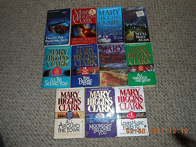 Lot of 11 Paperback Books By Mary Higgins Clark