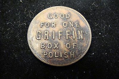 Good For One Griffin Box of Polish / Trade Token  New York