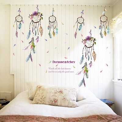Quote Dream Catcher Removable Vinyl Decal Bedroom Decor Art Wall Stickers Mural