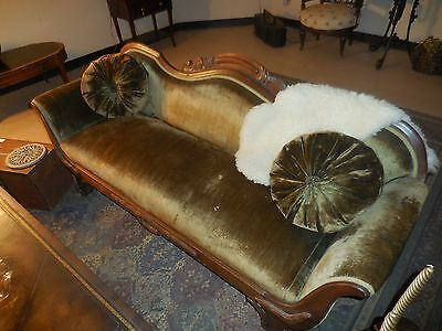 Antique Classical Period Settee Sofa Dark Green