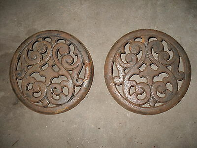 Antique Cast Iron Ornate Stove Lid, grate, grill, Simmering Cover ? coal S.N.INV