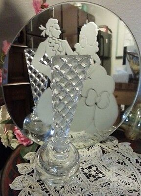 Antique Victorian Edwardian Vanity Mirror and Perfume Set