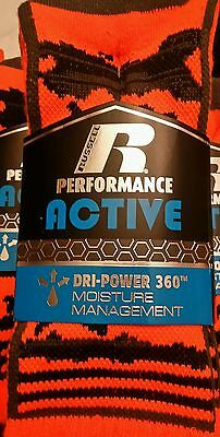 NEW - 3 pairs - Boys Russell Performance Active crew Socks - size Large 3-9