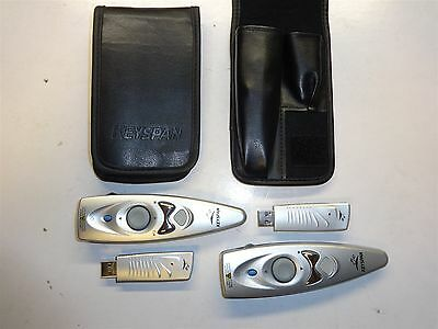 Lot of 2 Keyspan PR-US2 Presentation Wireless Remote Control RF Laser Pointer