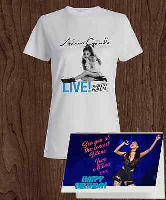 Ariana Grande 2017 Tour T-shirt with Personalised gift card