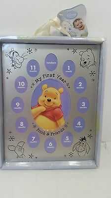 "Disney Baby Winnie the Pooh & Friends "" My First Year "" Picture Photo Frame"