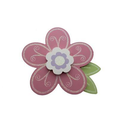"Babies""R""Us 7434 Pink Wooden Baby Girl Nursery Flower Wall Decor BHFO"