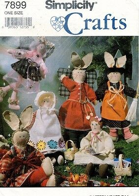 """Simplicity Dolls and Bunnies  Pattern 7899 Size 13"""" UNCUT"""
