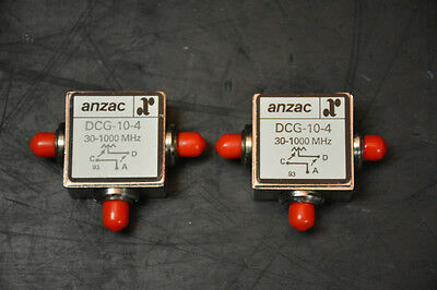 Anzac DCG-10-4 Directional Couplers (11dB / 30-1000MHz / Qty: 2)
