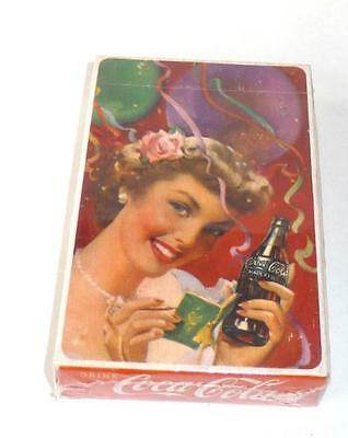 Rare ! Sealed ~1951 Drink Coca Cola, Girl At A Party Playing Cards