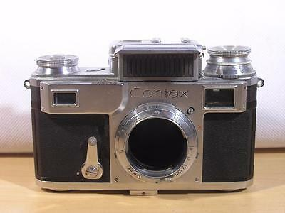 Gorgeous Zeiss Contax III 35mm Rangefinder Camera Body For Repair Or Parts