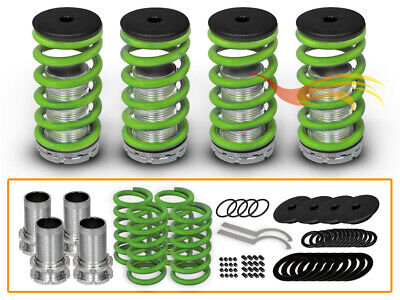 JDM GREEN Lowering Adjustable Coilover Springs For 98-02 Accord/97-01 Prelude