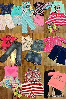 Girls Clothes Sz 3T-4T Spring Summer Fall Outfits Lot Of 27 Pc