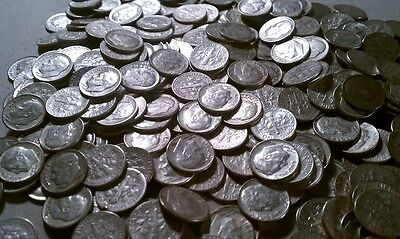 $500 Face (5,000 pcs) Roosevelt 90% Silver Dimes - FREE shipping
