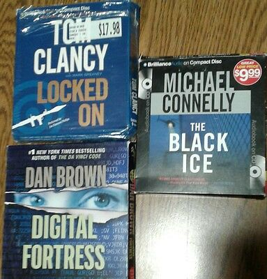 3 audiobooks books on CD Connelly Brown Clancy