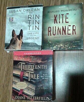 3 audiobooks books on CD Setterfield Hosseini Orlean