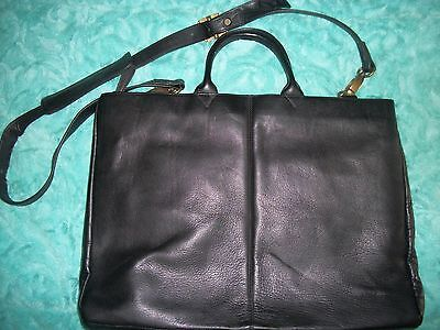 Black Leather LATICO Briefcase Laptop Bag
