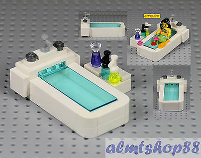 LEGO - Bathtub w/ Shampoo Soap Bottle Spa Bathroom Furniture Minifigure Flask