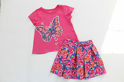 CHILDREN'S PLACE Girls Skirt and Shirt Top -  Size 5/6