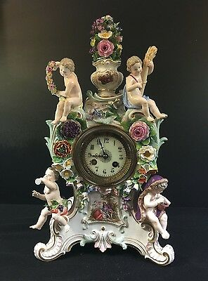 Meissen Four Seasons Mantle Clock--A Beauty--Same Family 100 Years--BUY IT NOW~!