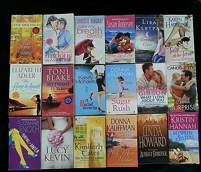 Lot Of 18 Assorted Contemporary Romance Novels