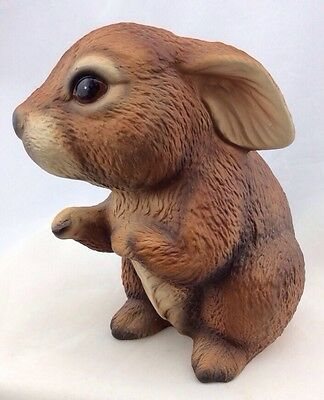 "Vintage House of GLOBAL ART 4.5"" RABBIT Harvey Knox Hand Painted Porcelain"