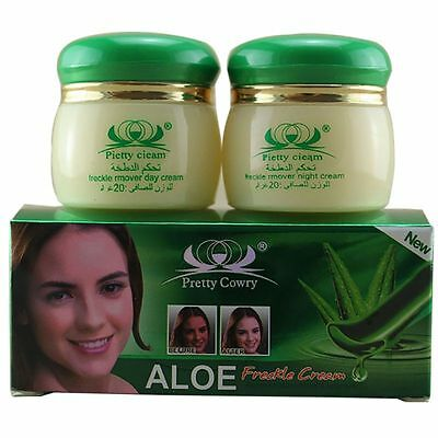 Aloe Whitening Skin Face Cream Remove Pigment Freckles Spots Night Day Cream