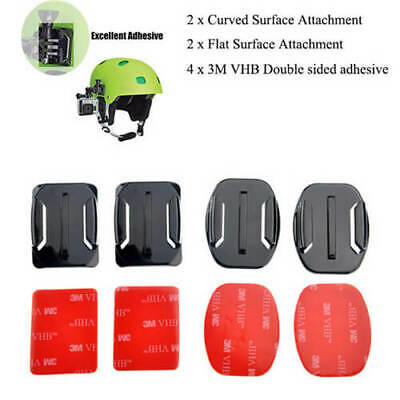Good Flat Curved 3M Adhesive Mount Set for GoPro Hero 4 3+ 3 Action Camera US