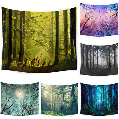 New Jungle Life Tree Hanging Wall Hippie Tapestry Home Decor Yoga Beach Towel