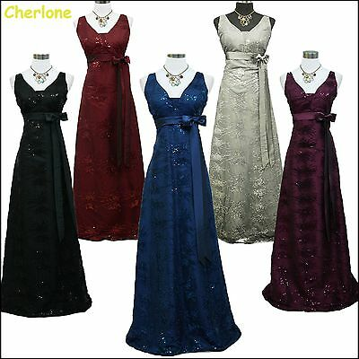Cherlone Satin Ball Wedding/Evening Gown Sparkle Prom Bridesmaid Formal Dress