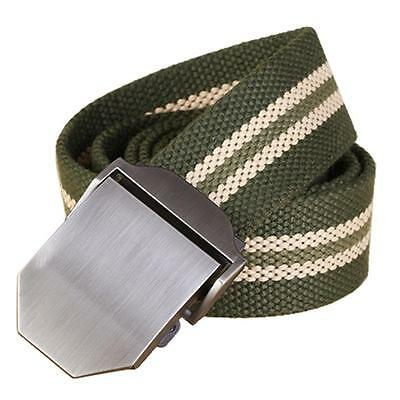 Men's Fashion Outdoor Sports Military Tactical Nylon Waistband Canvas Web Belt&