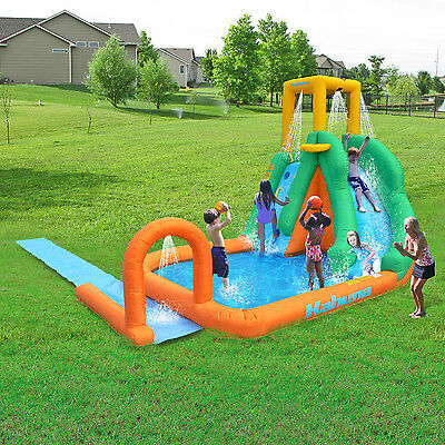 Inflatable Water Slide Splash Pool Large Backyard Park Bounce House Kids Fun New