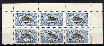 1911 Philatelic Congress Stamps In Blue Mint Block Of 6