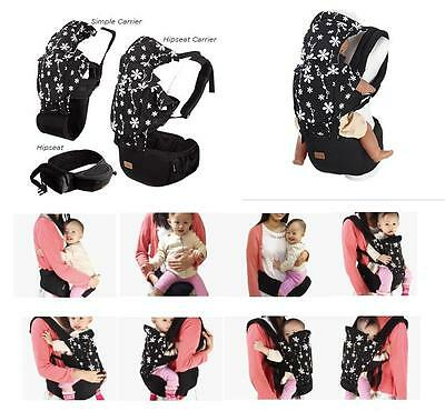 Quality Extra Padded 3in1 Hipseat Baby Carrier Anti Slip Sleeping Pouch VerySafe