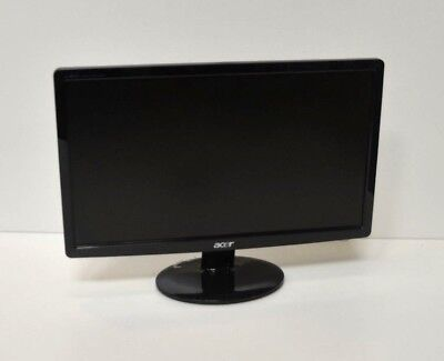 "ACER S191HQL MONITOR 18.5"" LED LCD Widescreen 1368x768 VGA 16:9 PSU NOT INCLUDED"