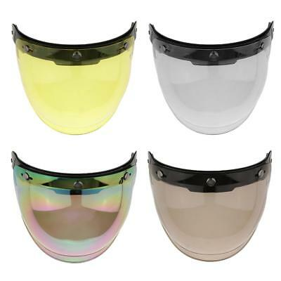 Motorcycle 3 Snap Helmet Visor Shield Flip Up Down Lens for Harley