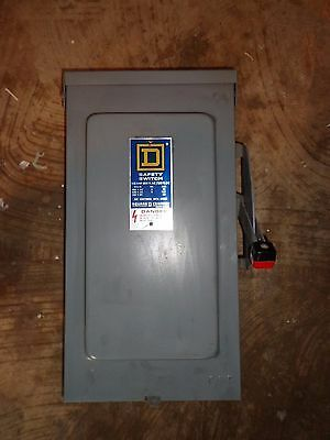 Square D 100Amp Safety Disconnect Switch 3R Enclosure Hu363Rb  **new**